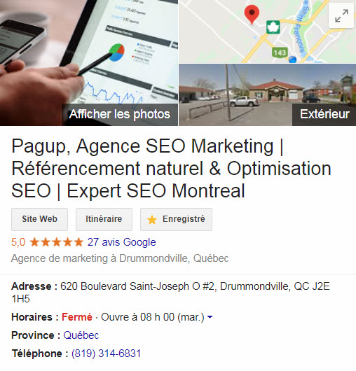 Google mon entreprise & Google Map, la meilleure façon d'être vu chez vous !, Pagup, Agence SEO